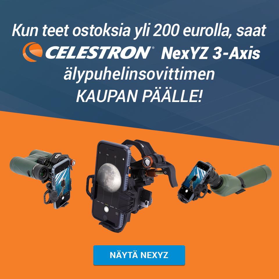 Celestron NexYZ kolmiakselinen yleissovitin älypuhelimille
