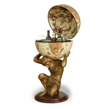 """Baarin karttapallo patsaan kanssa """"Atlas""""- Safari"""