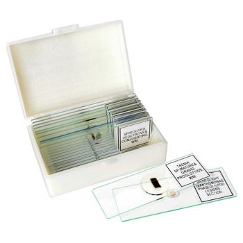 BRESSER preparaattilasit (10 kpl) ja säilytyslaatikko
