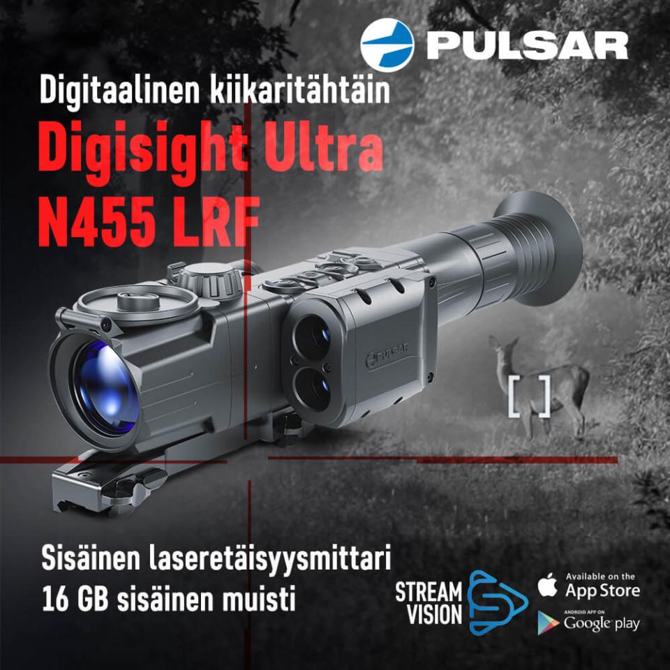 Pulsar Digisight Ultra N455 LRF digitaalinen kiikaritähtäin