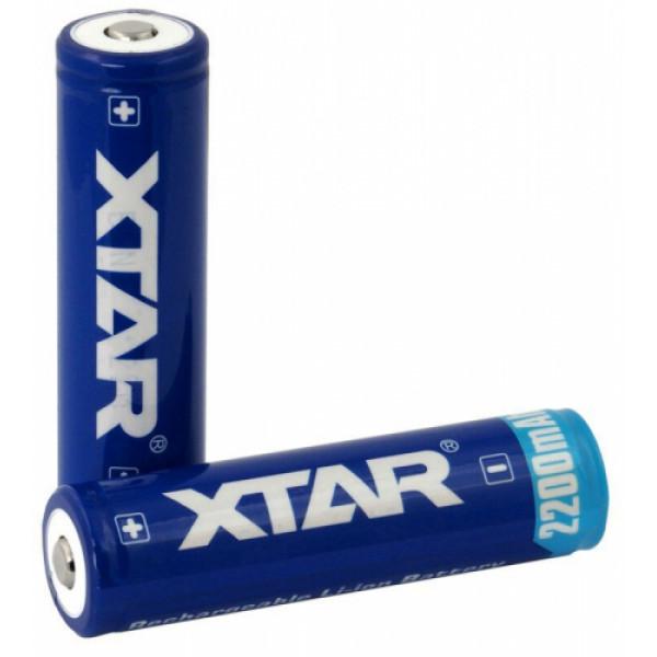 XTAR 18650 3.7V 2200mAh Li-ion akkulaattorit