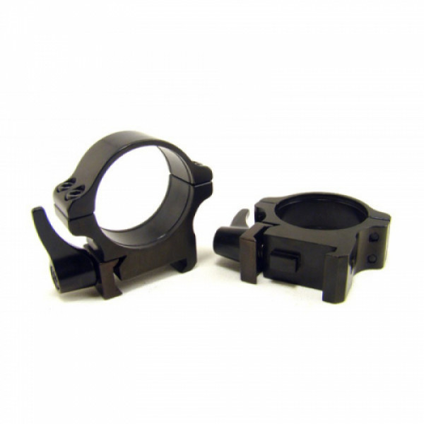Rusan Weaver-renkaat, 30 mm, pikalukittava, H8mm
