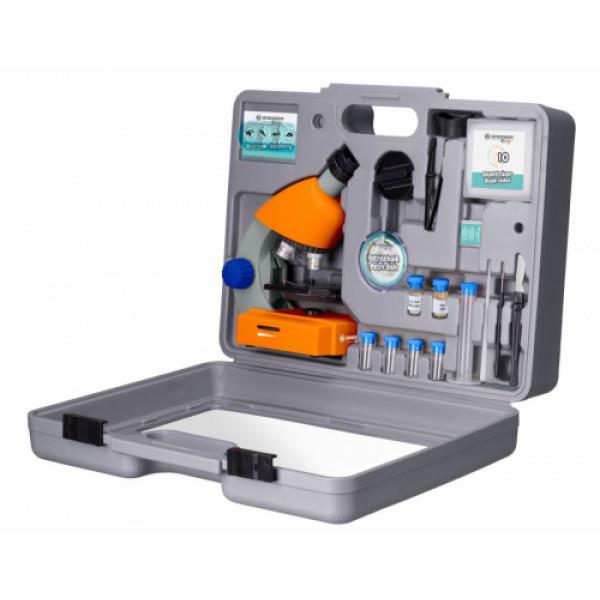 Bresser Junior 40x-640x -mikroskooppi lisävarusteilla ja kova kotelo