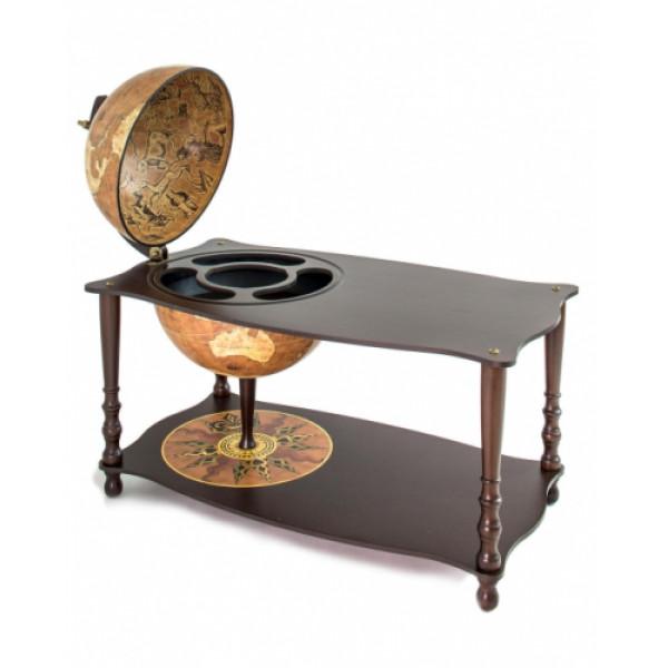 """Zoffoli """"Botticelli"""" – Rustiikkinen karttapallo/minibaari pöydällä"""