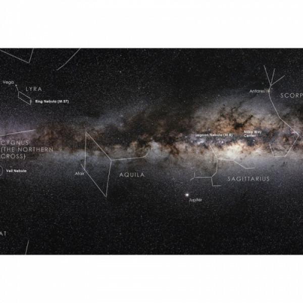 "Astronomie-Verlag -juliste ""Oma galaksimme Linnunrata"""