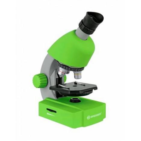 Bresser Junior 40x-640x mikroskooppi älypuhelinsovittimella (vihreä)