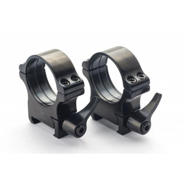 Rusan Weaver-renkaat, 30 mm, pikalukittava, H17mm