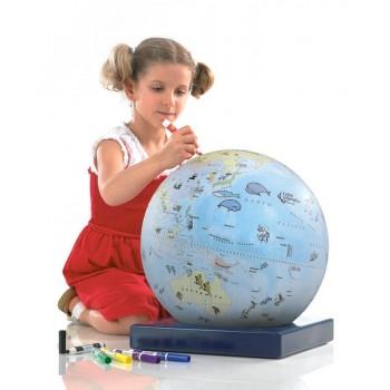 """Zoffoli Art. 912/1 """"Bimbi"""" väritettävä karttapallo lapsille"""